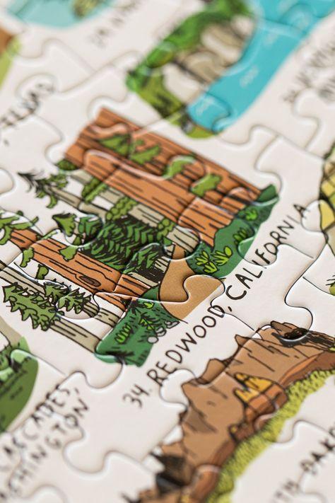 62 U.S. National Parks Puzzle