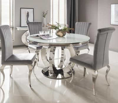The Donatella Circular Dining Set Round Dining Room Table Round Dining Room Sets Glass Round Dining Table