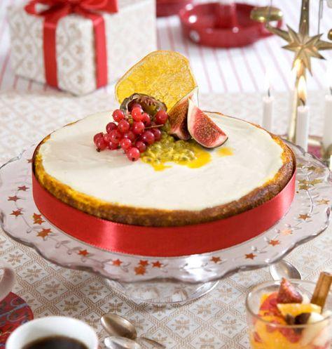 saffranscheesecake med pepparkaka och glögg