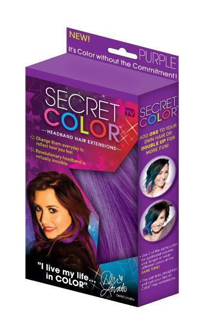 Amazon.com : Secret Color Headband Hair Extensions Purple: Beauty