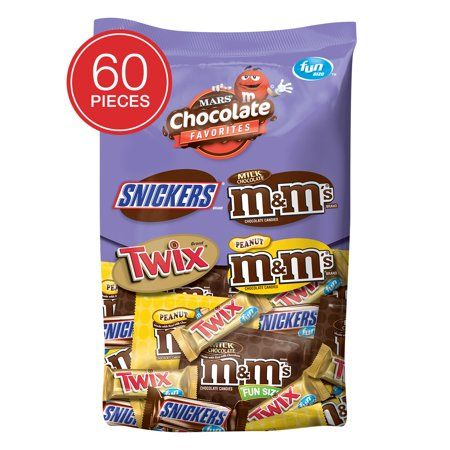 Mars Chocolate Favorites Fun Size Candy Bars Variety Mix