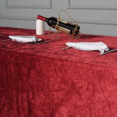 90 X 156 Burgundy Premium Velvet Rectangle Tablecloth In 2020 Tablecloth Sizes Table Cloth Tablecloth Fabric