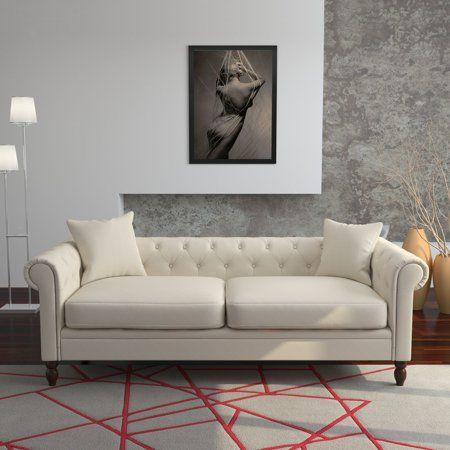 Home Soft Sofa Linen Sofa Chic Sofa