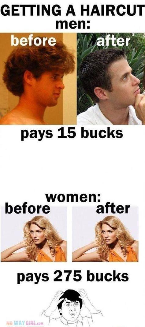 Men Vs Women Haircut Problems - NoWayGirl