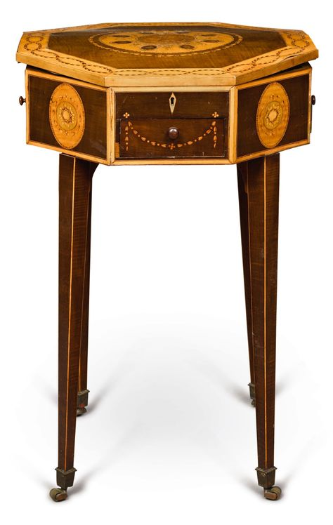 Miraculous C1790 George Iii Harewood Sycamore And Marquetry Octagonal Machost Co Dining Chair Design Ideas Machostcouk