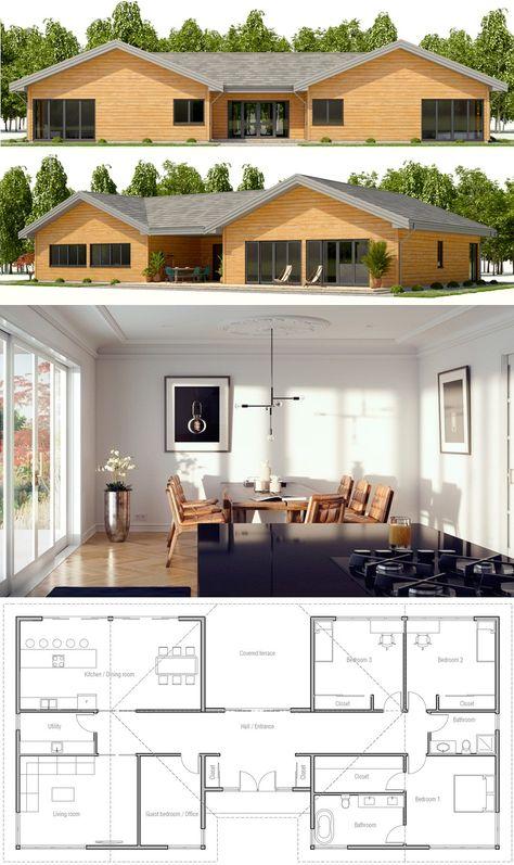 Populaire 106 best Plan de maison sur 300m2 de terrain images on Pinterest  YV45