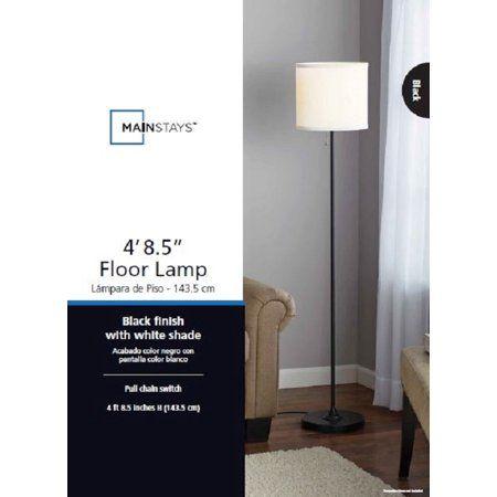 Mainstays 56 5 Floor Lamp Walmart Com Lamp Cheap Floor Lamps White Shade Living room floor lamps walmart