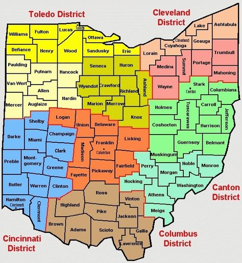 Ohio Map With Cities Counties In Ohio Map Map Of Ohio Cities ...