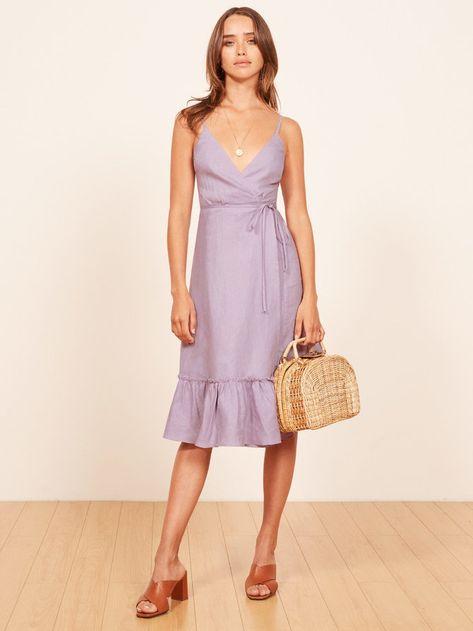 f258c0c923 Fig lilac sleeveless wrap dress Reformation