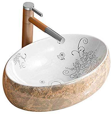 Homelava Keramik Waschbecken Mit Pop Up Ablaufgarnitur 480 X 330 X 140mm Ohne Wasserhahn Amazon De Baumarkt Keramik Waschbecken Waschbecken Ablaufgarnitur