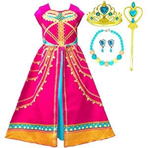 Romy/'s Collection Princess Blue Anna Snow Queen Costume Party Dress-up Set
