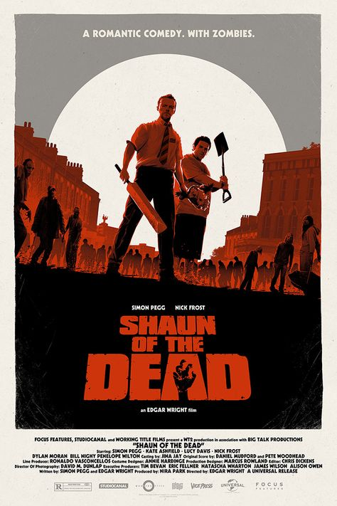 Shaun Of The Dead by Matt Ferguson - Home of the Alternative Movie Poster -AMP-