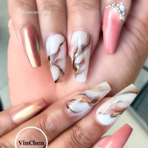 Hot Color Shades to Stay Fashionable with Ballerina Nails ★ See more: https://naildesignsjournal.com/ballerina-nails-colors/ #nails