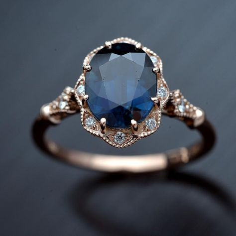 Natural blue sapphire daisy oval halo engagement ring vintage inspired oscargama com 20 unique engagement rings rose gold and moissanite flower diamond halo engagement ring wedding Oval Halo Engagement Ring, Morganite Engagement, Vintage Engagement Rings, Vintage Rings, Engagement Rings With Sapphires, Engagement Rings Nature, Celtic Engagement Rings, Antique Sapphire Engagement Rings, Non Traditional Engagement Rings Vintage