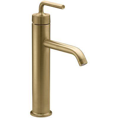 Kohler Purist Vessel Sink Bathroom Faucet With Drain Assembly