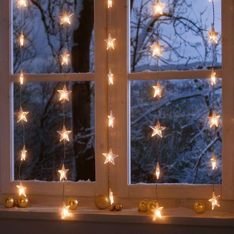 Lichterkette Sternenvorhang