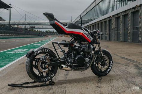 Hot stuff: A Honda CBX 750 built by a firefighter