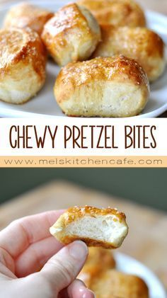Get ready to make mall-style buttery chewy pretzel bites at home! These easy homemade soft pretzel bites are AMAZING and can be yours hot out of the oven in an hour! Appetizer Recipes, Snack Recipes, Fun Appetizers, Shrimp Recipes, Fish Recipes, Crockpot Recipes, Chicken Recipes, Homemade Soft Pretzels, Pretzels Recipe
