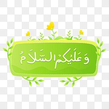 Handwriting Waalaikumussalam Arabic Greeting Vector With Cute Yellow Flower And Green Plant Decoration Assalamualaikum Lettering Waalaikumussalam Waalaikum P In 2021 Plant Decor Yellow Flowers Green Plants