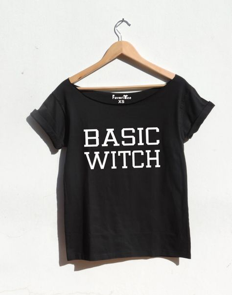 BASIC WITCH Halloween top off the shoulder witch shirt fashion blogger Tumblr slouchy style shirt