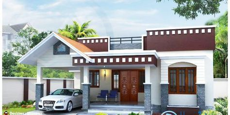Modern One Story Home With Roof Deck Pinoy Eplans Kerala House Design House Front Design Single Floor House Design