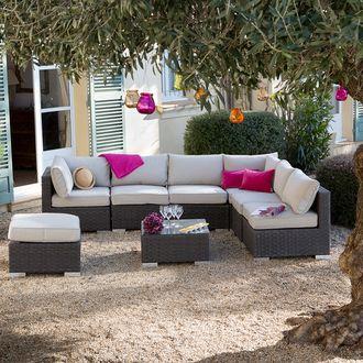 Soldes Salon de jardin Delamaison, achat Salon de jardin 8 places ...