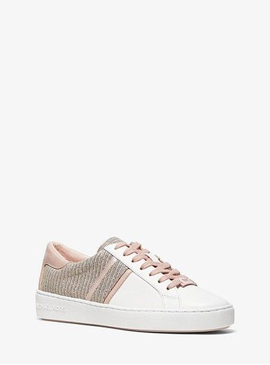 Keaton Chain-mesh And Leather Sneaker
