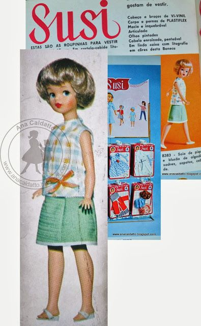 Boneca Susi Museu Virtual 1966 Susi Olhos Pintados Susi Estrela