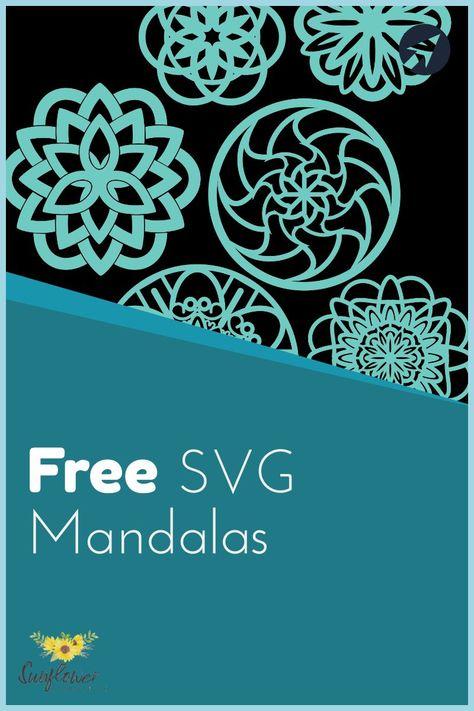 Mandalas are lots of fun to create. Cricut Stencils, Cricut Fonts, Stencil Templates, 3d Cuts, Diy Vinyl Projects, Cricut Svg Files Free, Cricut Craft Room, Freebies, Mandala Pattern