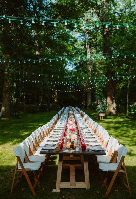 tres grande table de diner - chemin lumineux- jardin ...