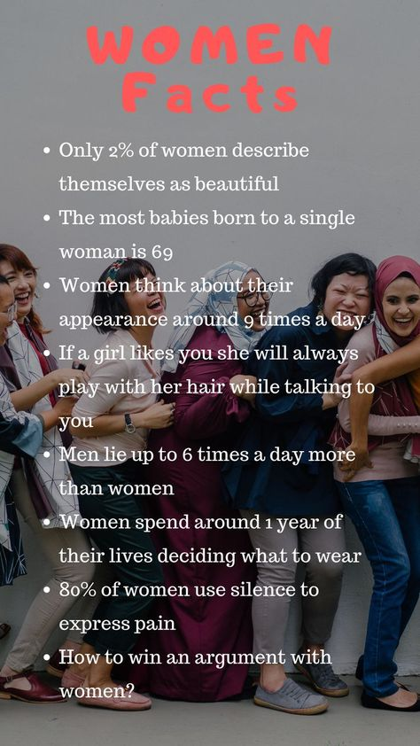 All throughout history, women have been strong, compassionate and amazing. Women are strong and determined and pretty amazing. There may however be some facts you did not hear before about being a woman. Here are some interesting facts that are a part of what makes women so awesome. Whether it is unique that a woman does or that a woman has done in the past, this list contains a bunch of amazing facts.
