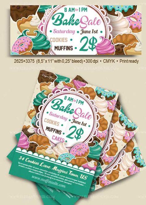 Download Bake Sale V17 Flyer PSD Template Facebook Cover Free - bake sale flyer
