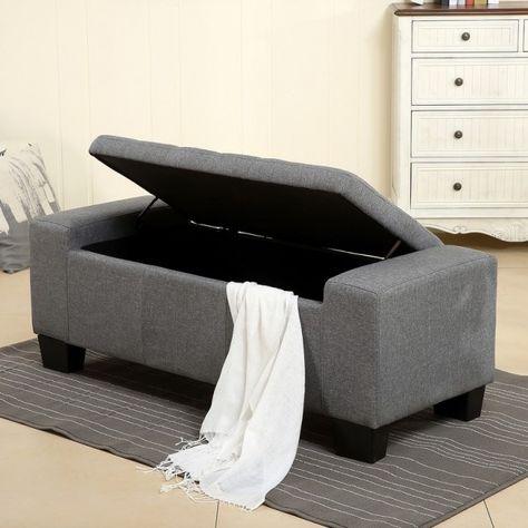 Strange Belleze 48 Rectangular Fabric Tufted Storage Ottoman Bench Uwap Interior Chair Design Uwaporg