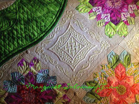 "My quilt ""Bouquet Royale"", finished (soon) 2015 www.quiltsoflove.blogspot.com Margaret Solomon Gunn"