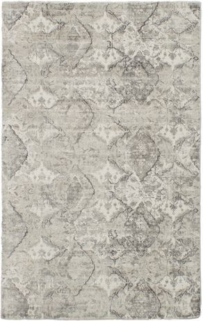 Ecarpetgallery Hand Loomed Galleria Grey Silk Rug 5 0 X8 0 Blue