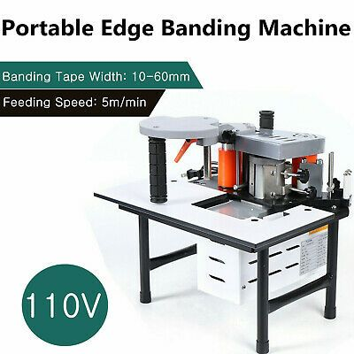 Sponsored Ebay Portable Woodworking Edge Banding Machine 0 3 3mm Thick Bevel 10 60mm Width Hot In 2020 Bevel Portable Woodworking