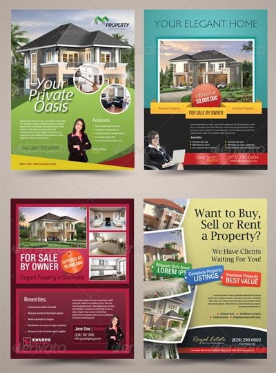 Real Estate Flyer Template CBS Pinterest Real estate flyers - home sale flyer template