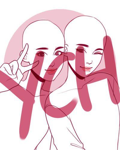 Open Ych Best Friends By Hyeoii On Deviantart Best Friend