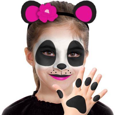 Child Panda Makeup Kit 7pc In 2020 Panda Makeup Halloween Makeup For Kids Kids Makeup