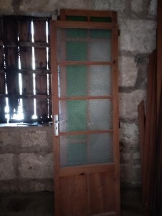 Puerta Madera De Segunda Mano Por 20 En Llucmajor En Wallapop Puertas De Madera Madera Cristalera