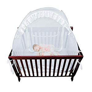 Houseables Baby Crib Safety Net Mosquito Babies Bed Netting Tent Babies White 48 X 26 X 57 Mesh Toddler Pack N Play Canopy Pop Up Protection For Infant Crib Safety Mosquito