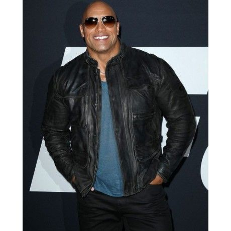 Dwayne Johnson The Fate Of The Furious Premiere Leather