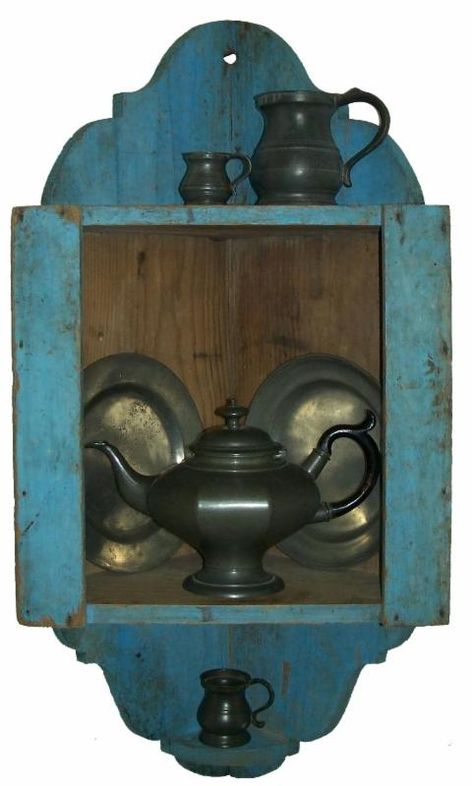 PEWTER – on a colonial corner shelf