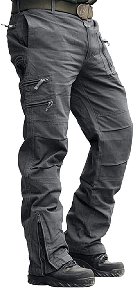 Tactical Homme Denim Pantalon Cargo Jeans Combat Multi-poche Work Casual Pantalon