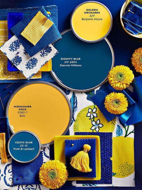 How 2 Interior Design and Color Experts Use Sunny Yellows and Cool Blues to Brighten Up a Room — Better Homes & Gardens