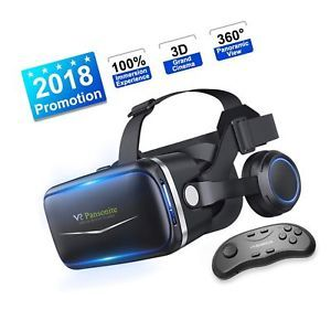 Pansonite Vr Headset with Remote Controller, 3d Glasses