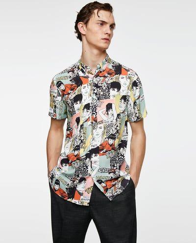 Zara 'Comic strip print shirt' | Fashion | Printed shirts