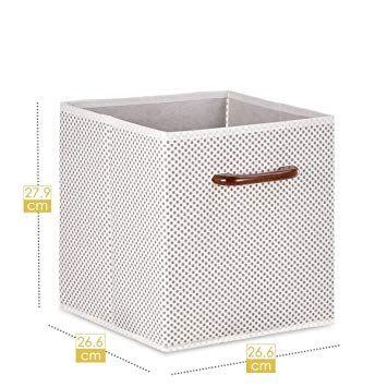 Maidmax De Rangement En Tissu Boites Tiroirs Avec Poignee En Bois Pour Unite De Rangement Cube Gris Polka Dot Ensembl Avec Images Rangement Tissu Rangement Cube Rangement