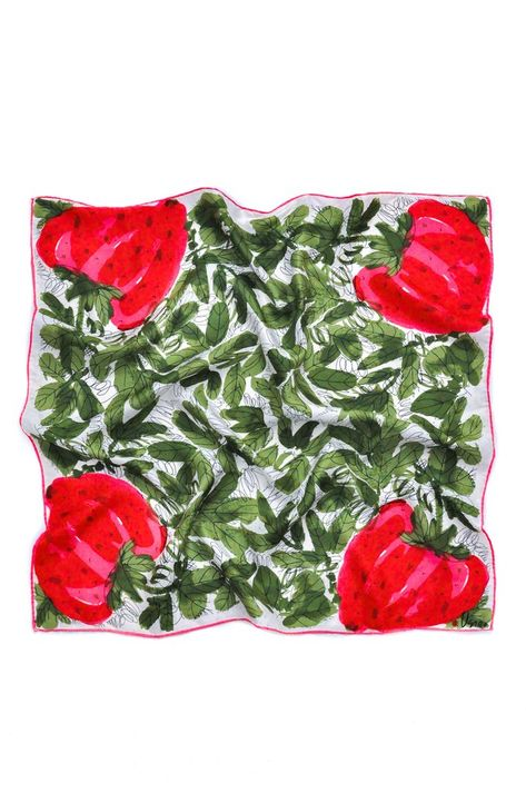Vintage Strawberry Square Scarf from Sweet & Spark
