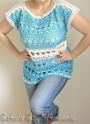 Crochet top, pattern on the link.